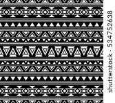 black and white seamless... | Shutterstock .eps vector #534752638