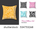 set of throw pillows in... | Shutterstock .eps vector #534753268