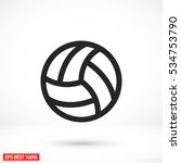 volleyball ball outline vecto | Shutterstock .eps vector #534753790