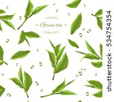 vector green tea seamless... | Shutterstock .eps vector #534754354