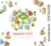flat isometric residential... | Shutterstock .eps vector #534761038