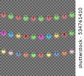 christmas lights isolated... | Shutterstock .eps vector #534761410