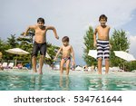 happy time for kids of fun and... | Shutterstock . vector #534761644