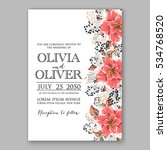 wedding invitation floral... | Shutterstock .eps vector #534768520