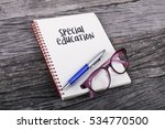 note with special education on... | Shutterstock . vector #534770500