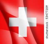 Swiss colors - stock photo