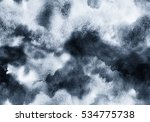 hand painted ink grey seamless... | Shutterstock . vector #534775738