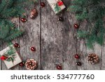 christmas background with... | Shutterstock . vector #534777760