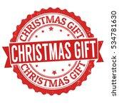 christmas gift grunge rubber... | Shutterstock .eps vector #534781630