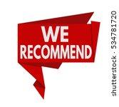 we recommend origami speech...   Shutterstock .eps vector #534781720