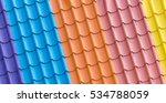 Color Metal Roof Tile Background
