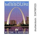 missouri  united states travel... | Shutterstock .eps vector #534789523