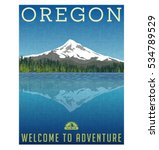 oregon  united states travel... | Shutterstock .eps vector #534789529