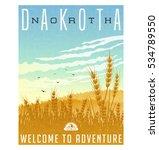 north dakota  united states... | Shutterstock .eps vector #534789550