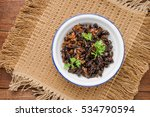 food insect  fried crickets in... | Shutterstock . vector #534790594