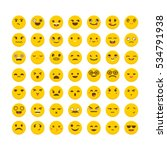 set of emoticons. cute emoji...   Shutterstock .eps vector #534791938
