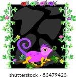 vine frame with chameleon... | Shutterstock .eps vector #53479423