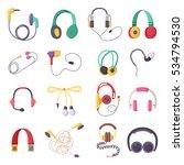 vector headphone icons set on... | Shutterstock .eps vector #534794530
