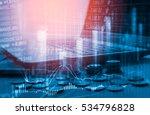 double exposure stock market... | Shutterstock . vector #534796828
