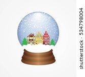 christmas snow globe. ... | Shutterstock .eps vector #534798004