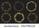 vector decorative frame with... | Shutterstock .eps vector #534798124
