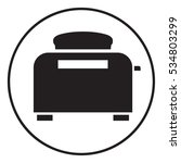 toaster oven icon | Shutterstock .eps vector #534803299