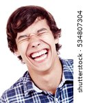 laughing out loud young man... | Shutterstock . vector #534807304