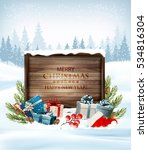 christmas background with a... | Shutterstock .eps vector #534816304