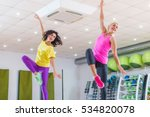 two young sporty women... | Shutterstock . vector #534820078