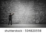 businessman or teacher drawing... | Shutterstock . vector #534820558