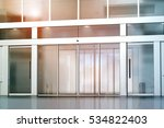 blank sliding glass doors... | Shutterstock . vector #534822403