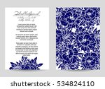 invitation with floral... | Shutterstock . vector #534824110