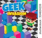geek boy invasion video game...