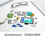 social media and network... | Shutterstock . vector #534824809