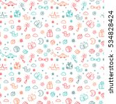 vector seamless pattern with... | Shutterstock .eps vector #534828424