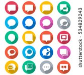 speech bubble flat color icons | Shutterstock .eps vector #534829243