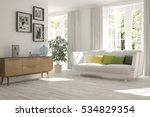white room with sofa and green... | Shutterstock . vector #534829354