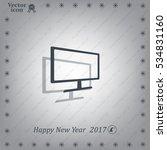vector monitor icon   Shutterstock .eps vector #534831160