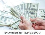 man counting money man in... | Shutterstock . vector #534831970