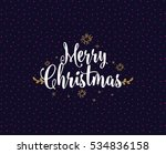 merry christmas text design.... | Shutterstock .eps vector #534836158