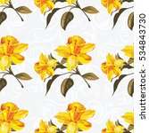 seamless floral pattern with... | Shutterstock .eps vector #534843730