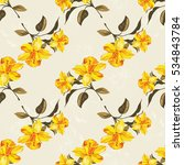 seamless floral pattern with... | Shutterstock .eps vector #534843784