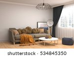 interior with sofa. 3d... | Shutterstock . vector #534845350