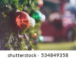 christmas ornament ball for... | Shutterstock . vector #534849358