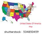 united states of america map in ... | Shutterstock .eps vector #534850459