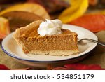 A Slice Of Pumpkin Pie With...