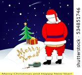 santa wrote the inscription on... | Shutterstock .eps vector #534851746