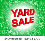 red and green sale poster with... | Shutterstock .eps vector #534851773