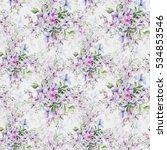 seamless pattern of wild... | Shutterstock . vector #534853546