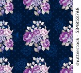 seamless floral pattern with... | Shutterstock .eps vector #534853768